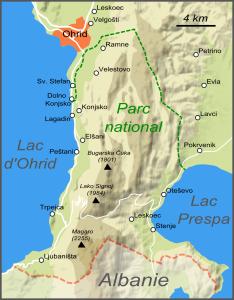 Plan du parc national (cliquer pour agrandir).