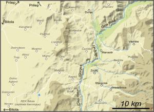 Carte du Mariovo (cliquer pour agrandir).