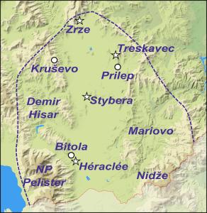 Sites de la région de Pélagonie.