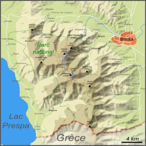 Carte du parc national (cliquer pour agrandir).