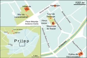 Plan de Prilep (cliquer pour agrandir).