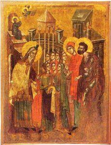 Icône d'Ohrid, XIVème (Présentation de Marie).