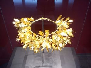 Couronne royale trouvée à Vergina (Grèce).