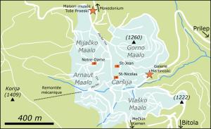 Plan de Kruševo (cliquer pour agrandir).