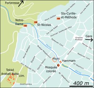 Plan de Tetovo (cliquer pour agrandir).